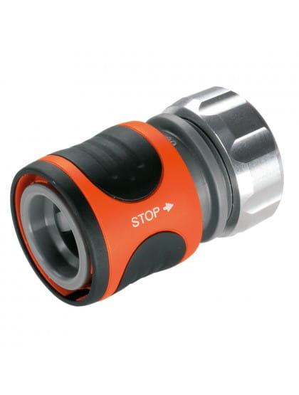 Коннектор Gardena Premium 13 мм (1/2) с автостопом