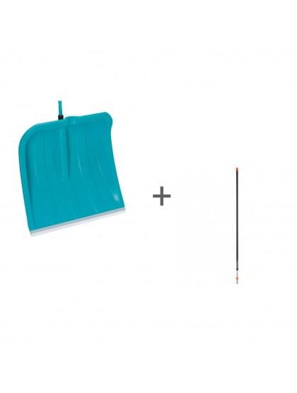 Комплект Gardena: лопата 40 см с кромкой из нержавеющей стали + рукоятка алюминиевая 150 см