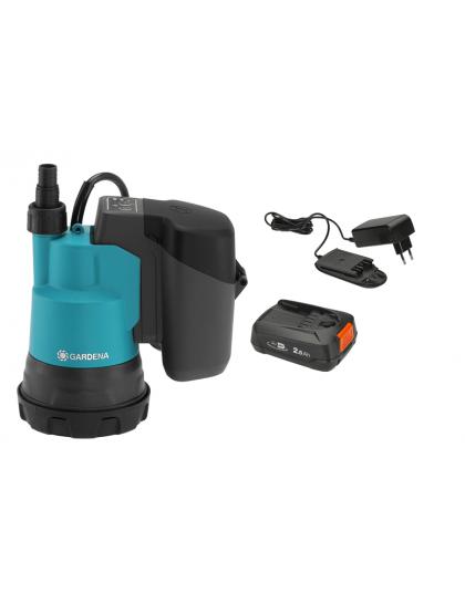 Насос дренажный для чистой воды Gardena 2000/2 18V P4A с аккумулятором