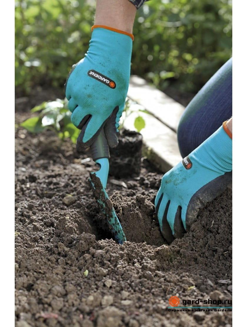 Перчатки для работы с почвой Gardena размер 10