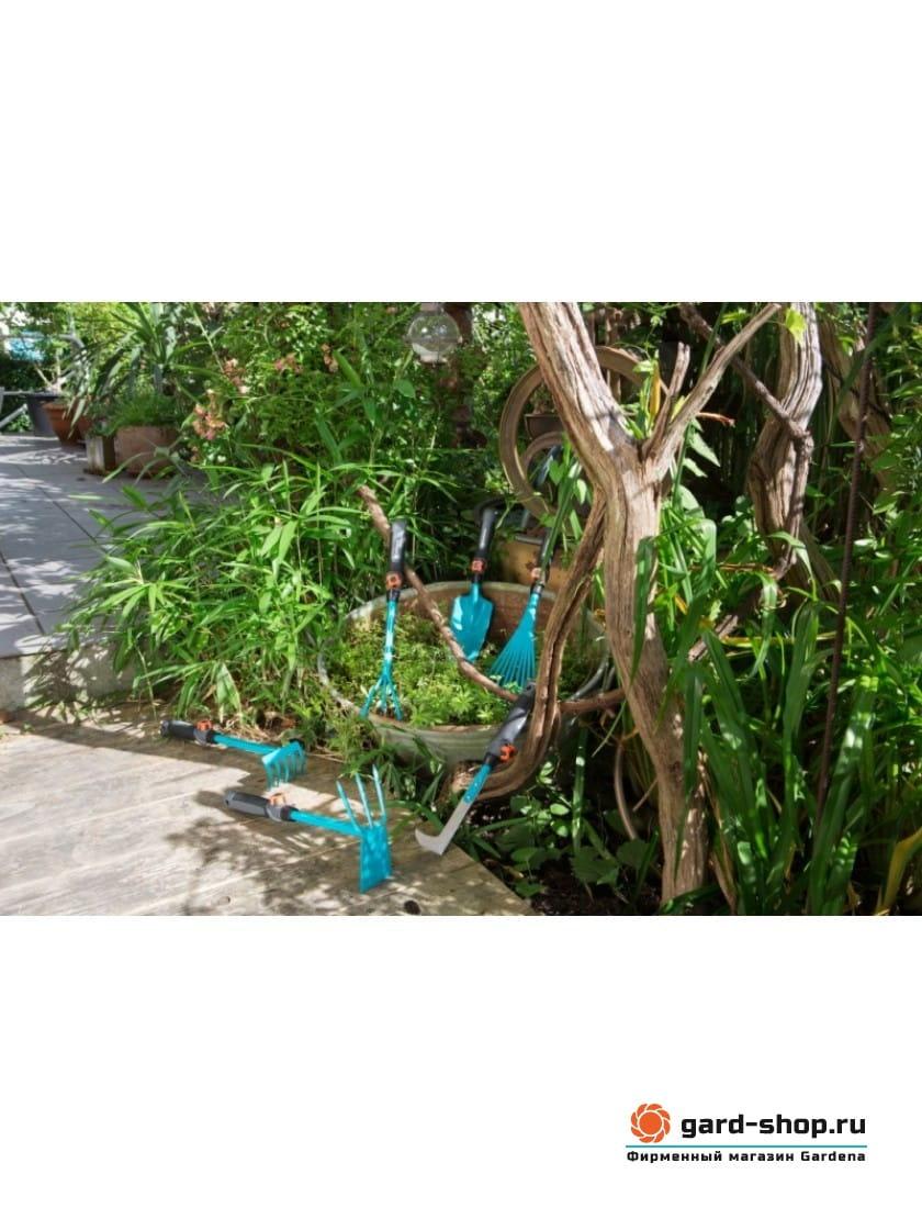 Мотыжка ручная Gardena 6,5 см c 3 зубцами (насадка комбисистемы)