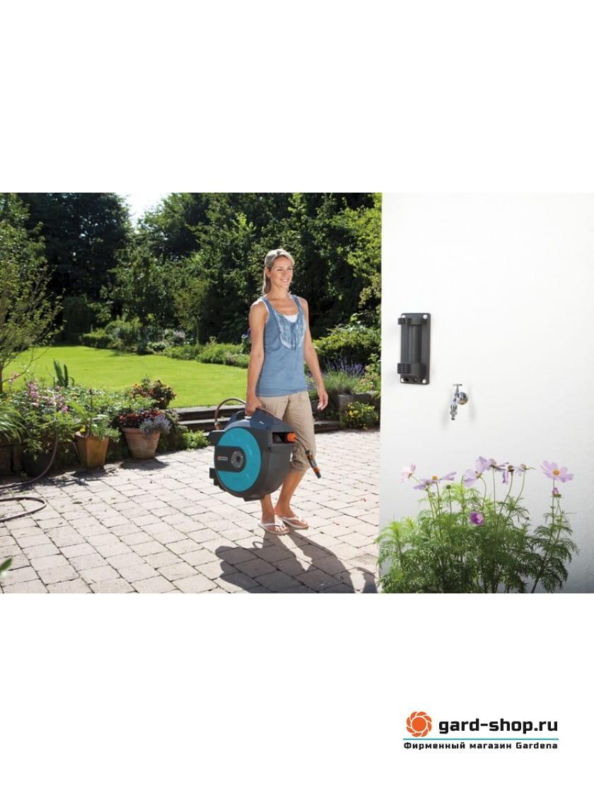 Катушка со шлангом настенная автоматическая Gardena