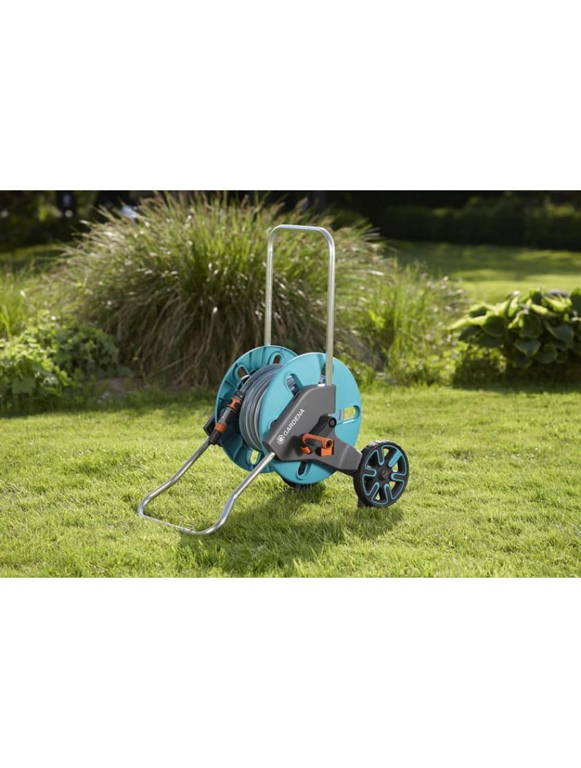 Тележка Gardena AquaRoll M со шлангом Classic, 20 м  и комплектом для полива