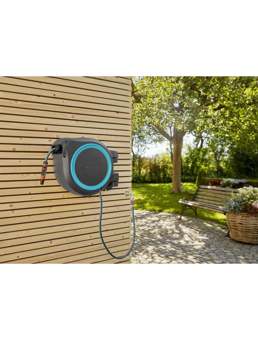 Катушка со шлангом настенная автоматическая Gardena RollUp XL 35 м голубой