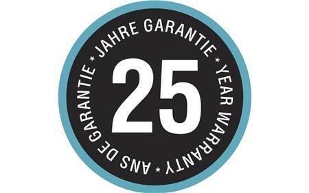 25 years warranty web only